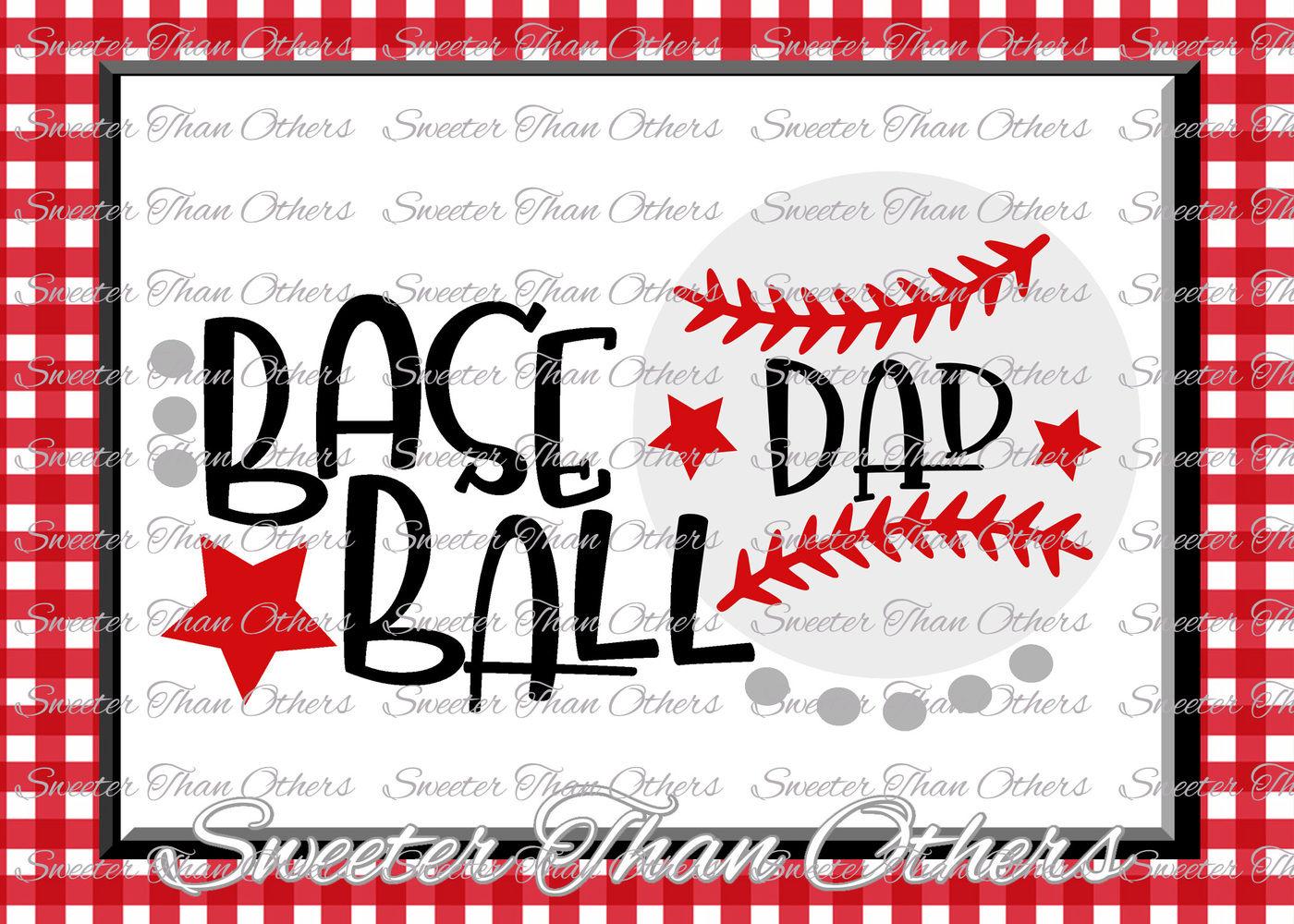 Baseball Dad Svg Love Htv T Shirt Design Vinyl Svg And Dxf Files