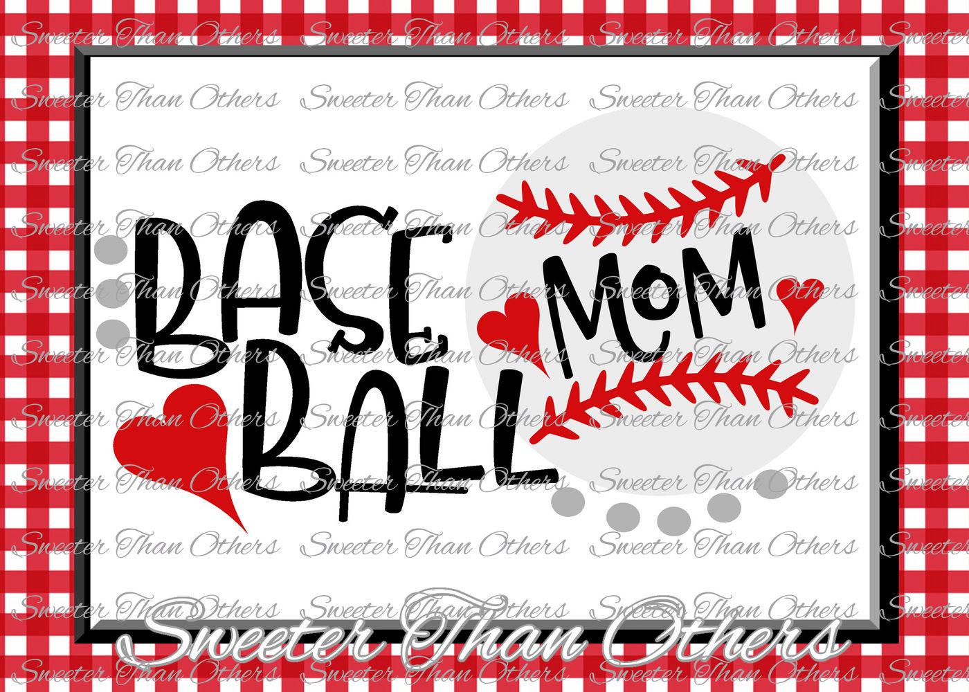 Baseball Mom Svg Lovehtv Tshirt Design Vinyl Svg And Dxf Files