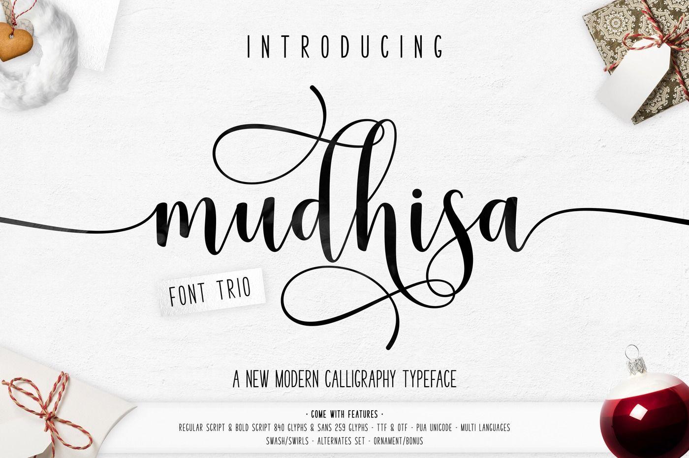 Mudhisa Script Font By Barland Thehungryjpeg Com