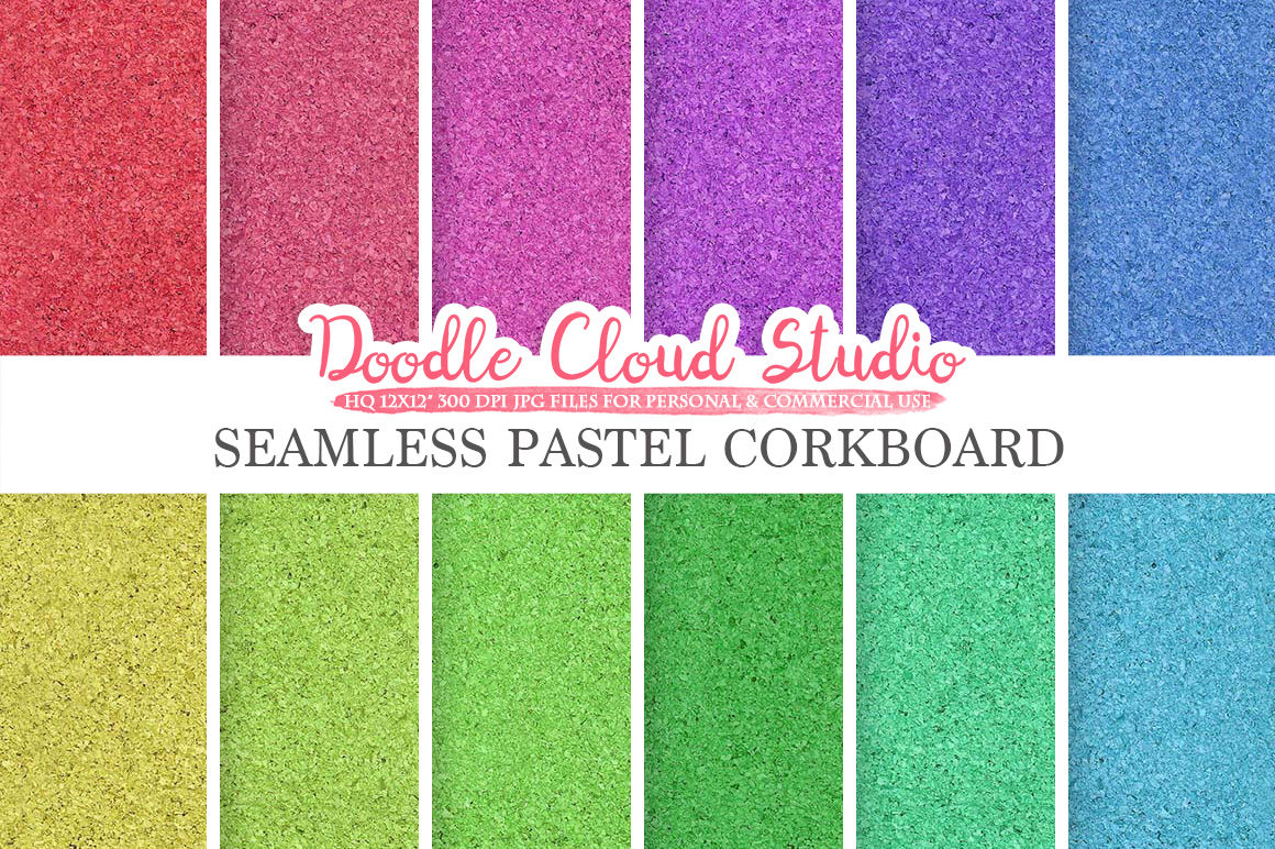 graphic about Printable Textures referred to as Seamless Pastel Corkboard electronic paper, Cork Board Rainbow