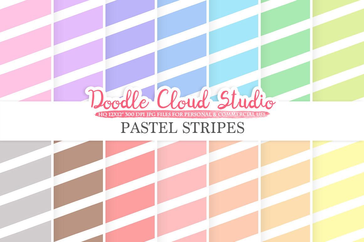 Pastel Stripes Digital Paper Stripes Pattern Digital Stripes