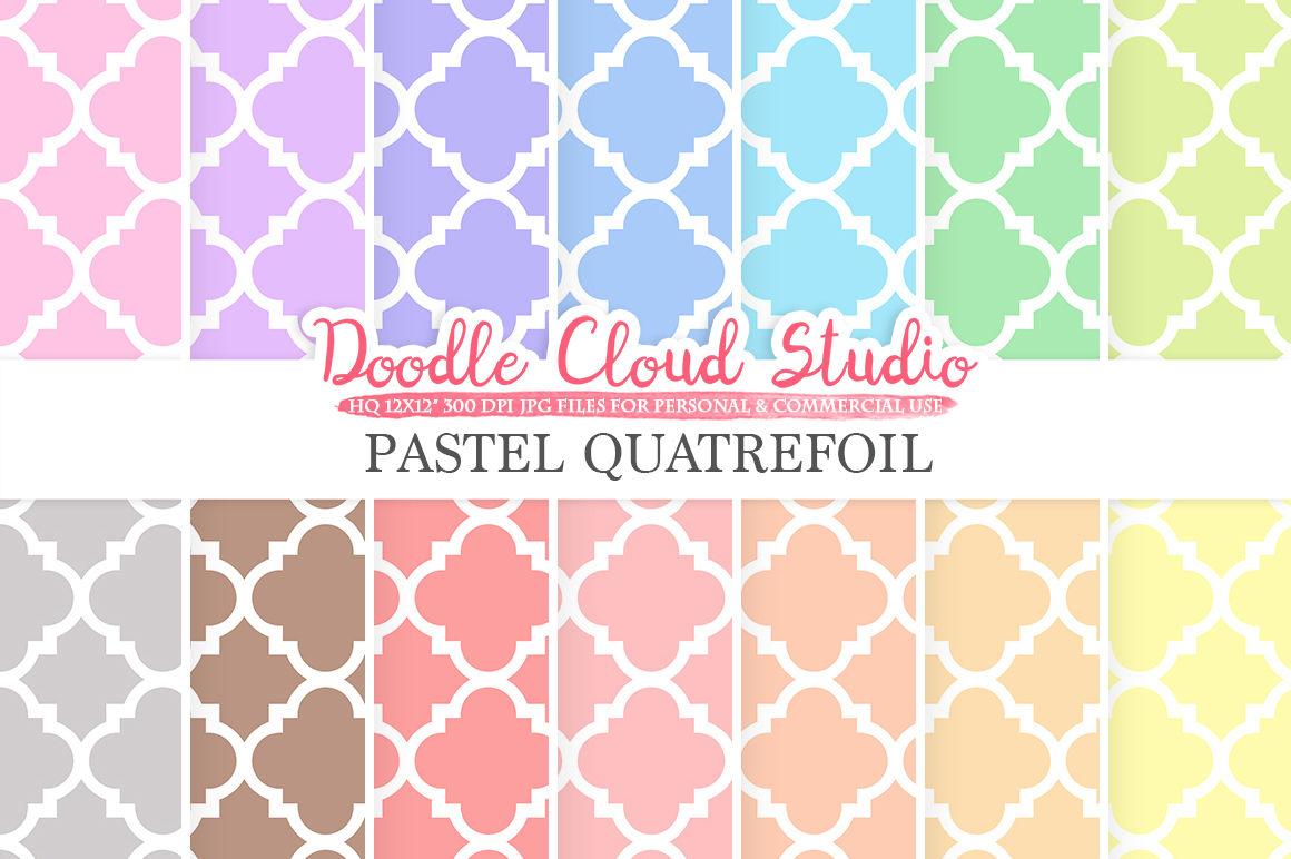 Pastel Quatrefoil Digital Paper Quatrefoil Patterns Digital