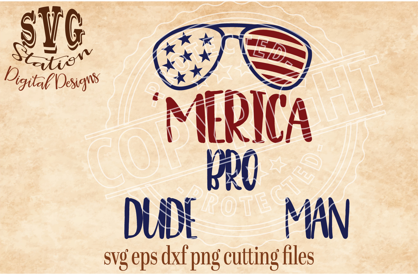 Merica Sunglasses Svg Dxf Png Eps Cutting File Silhouette Cricut Scal By Svg Station Thehungryjpeg Com