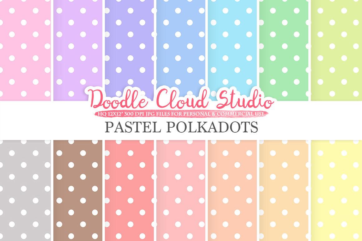 Pastel Polkadot Digital Paper Polkadot Patterns Digital Polkadot