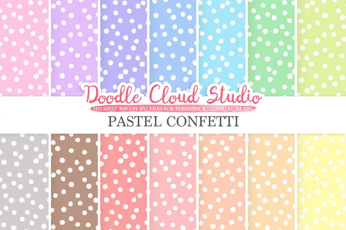 Pastel Confetti Digital Paper Snow Patterns Digital Confetti