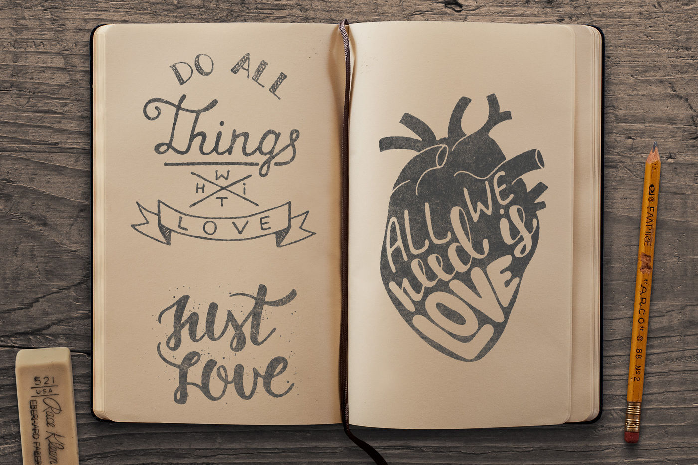 Love Quotes And Greeting Cards By Mia Akimo Thehungryjpeg Com