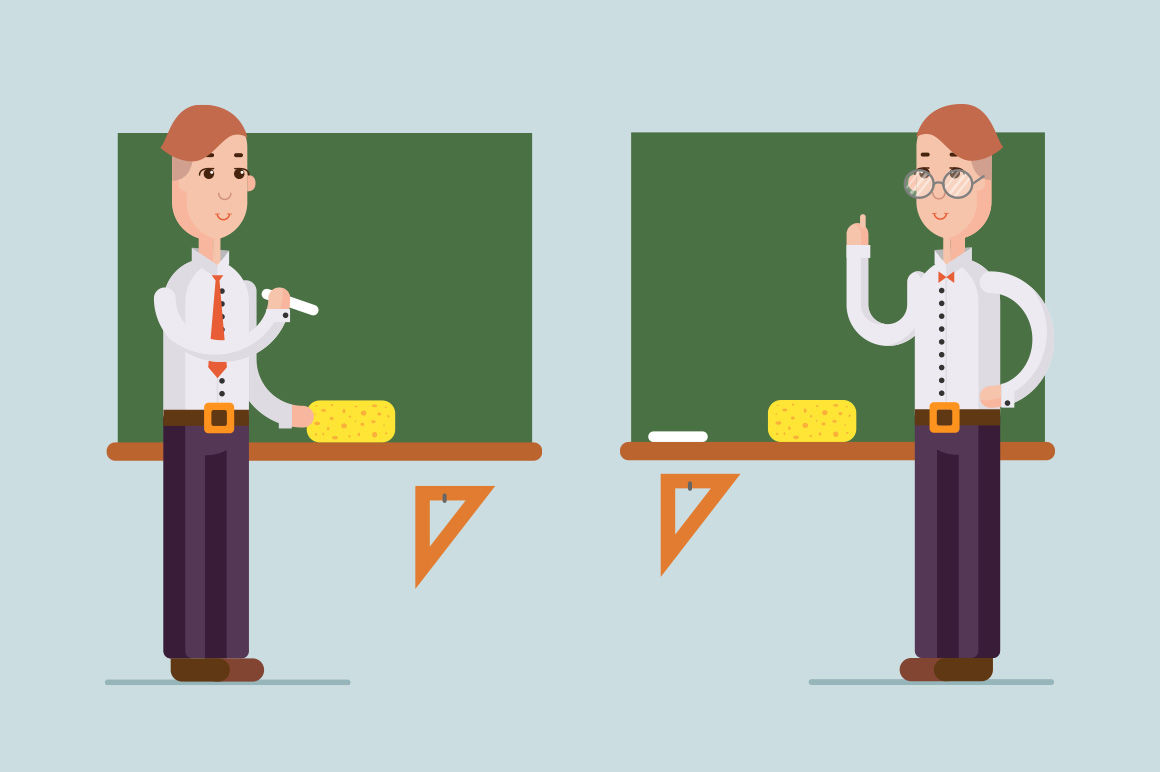2 Teachers Illustration By Yorri Thehungryjpeg Com