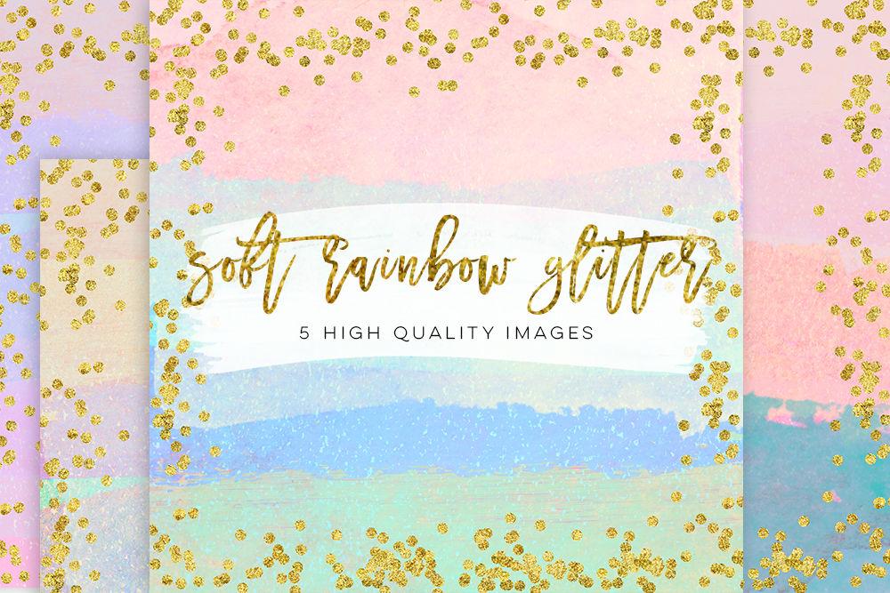 Magical Rainbow Texture Confetti Rainbow Paper Arcoiris Acuarela