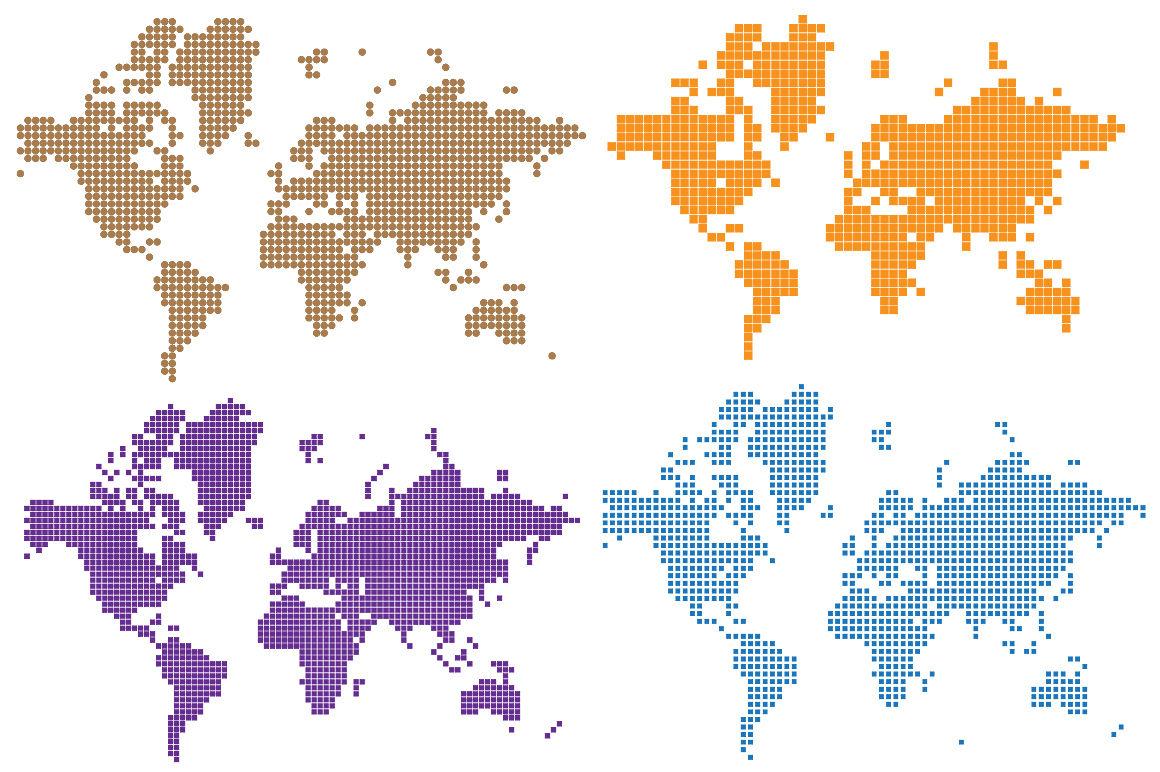 Vector Pixel World Map Infographics By Alexzel Thehungryjpeg Com