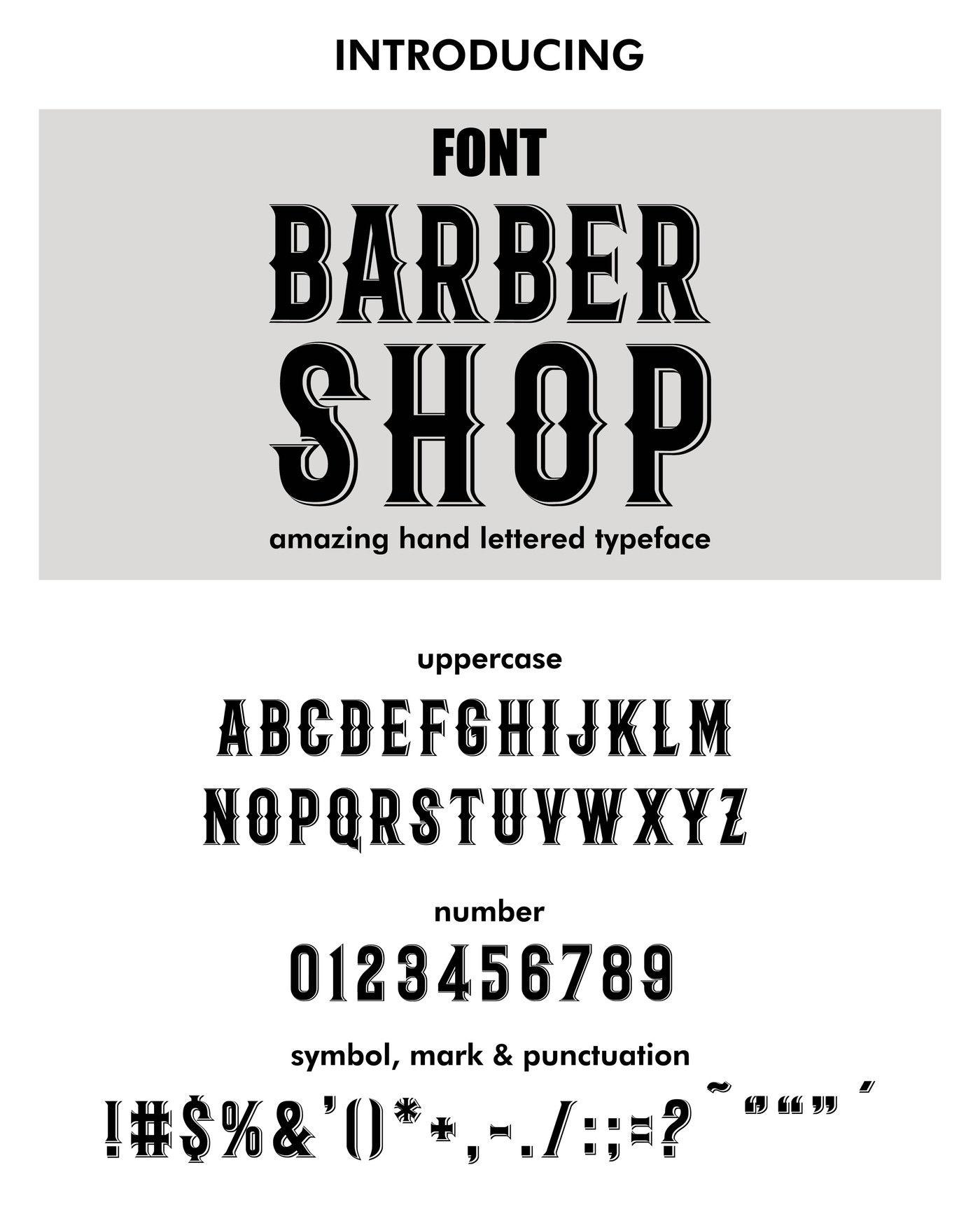 Font  Typeface  Script  Modern barber style - barber shop script