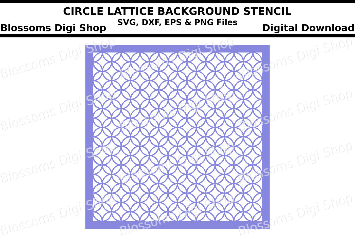 Circle lattice background stencil SVG, DXF, EPS and PNF