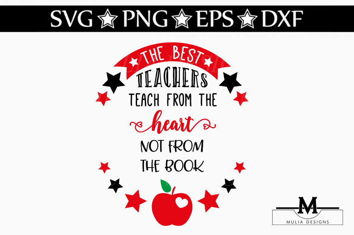 Best Teachers Teach From Heart Svg By Mulia Designs