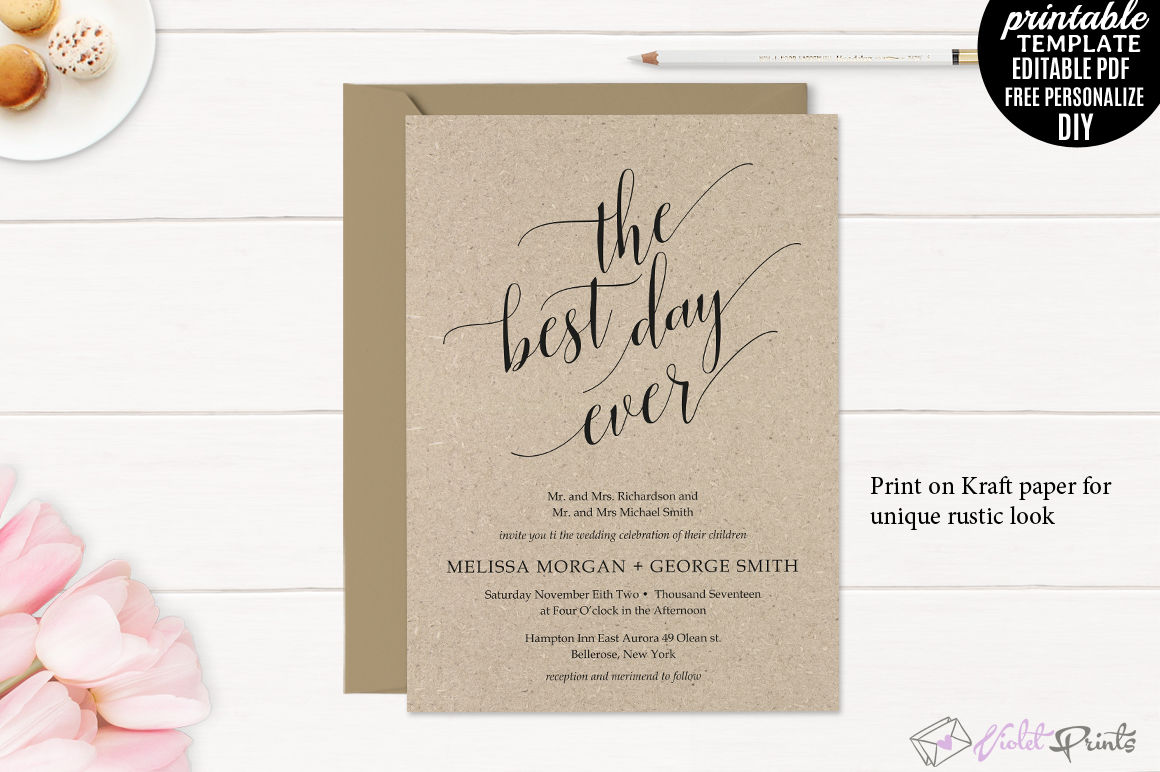 Clic Wedding Invitation Set Template