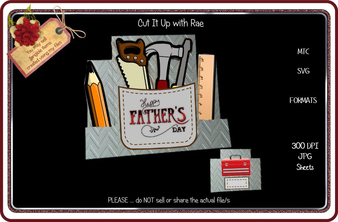 810 Tool Box Step Card By Cut It Up With Rae Thehungryjpeg Com