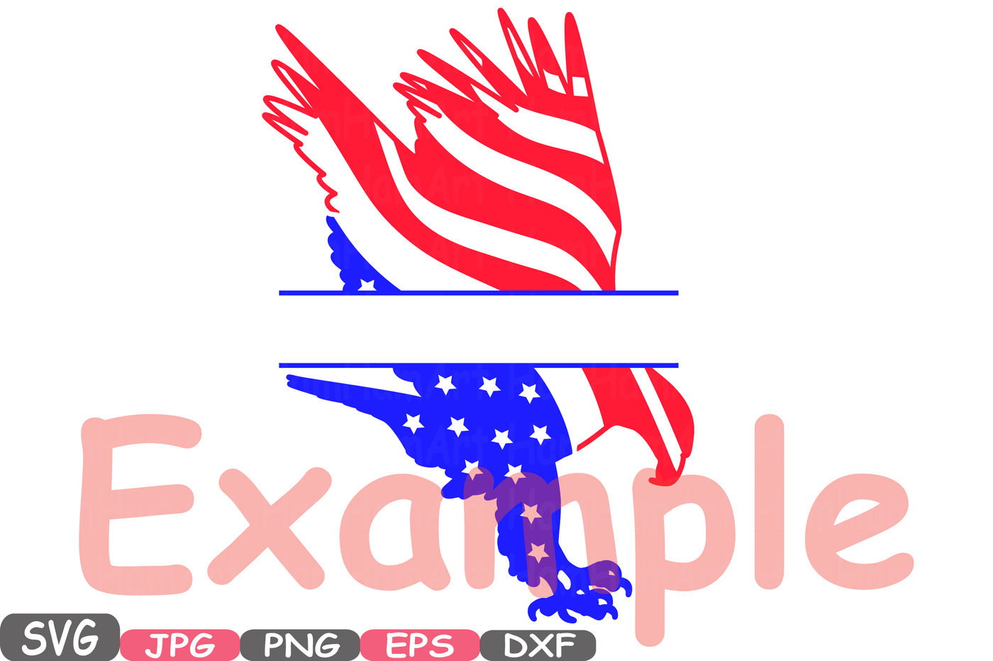 American Chevron Flag Split Circle Frame Svg Eagle Usa Eagles
