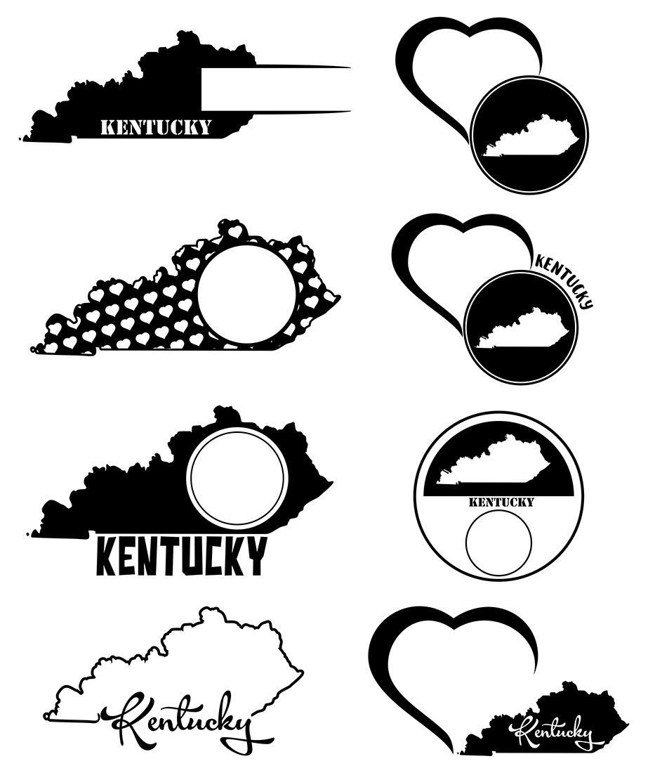Kentucky Monograms Svg Jpg Png Dwg Ai Eps By Dreamer S Designs Thehungryjpeg Com