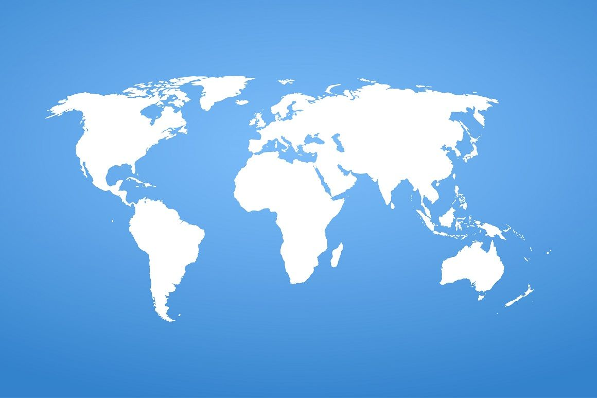 Detail World Vector Map By Expressshop Thehungryjpeg Com