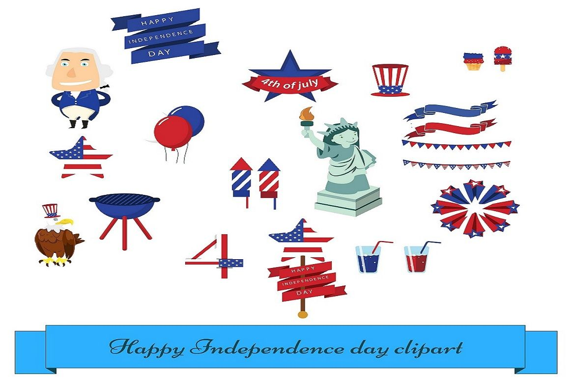 4th July Us Independence Day Vector Illustration Pack By