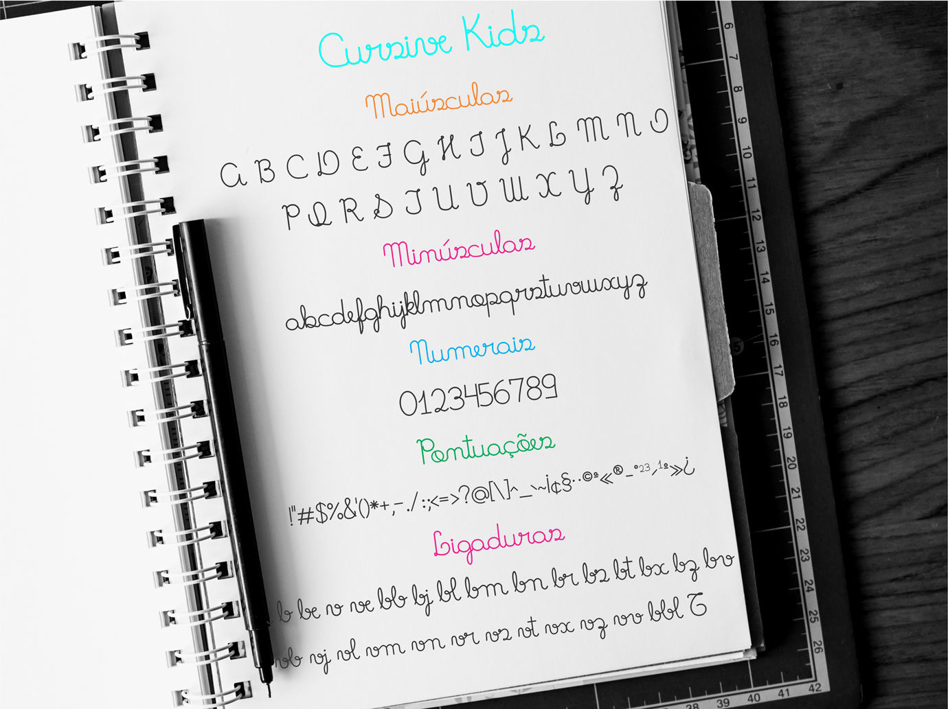 Fonts Cursive Kids and Cursive Kids Trace for literacy By Studio