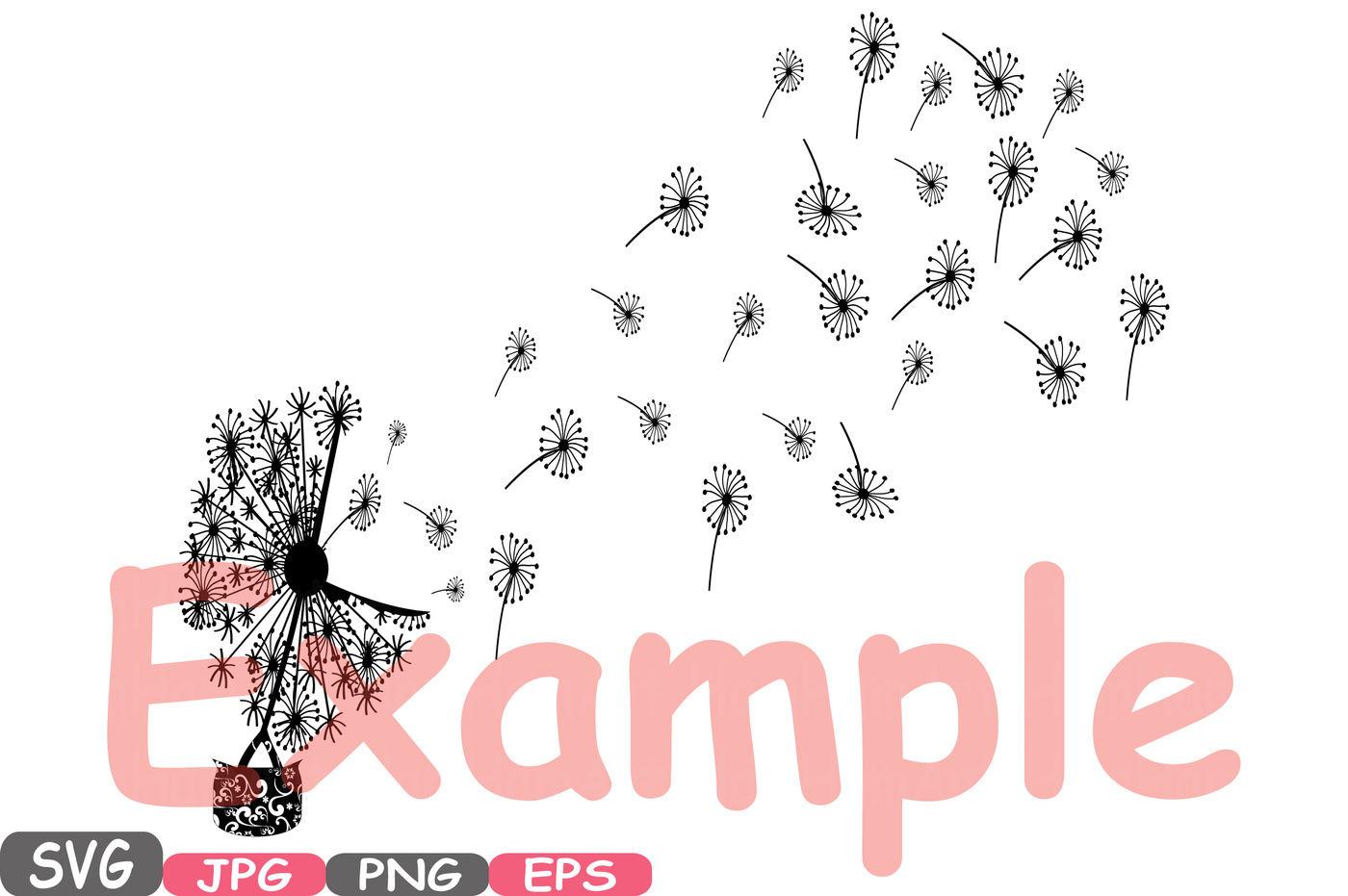 Wildflower Dandelion You Blow Me Away Svg Word Art Silhouette