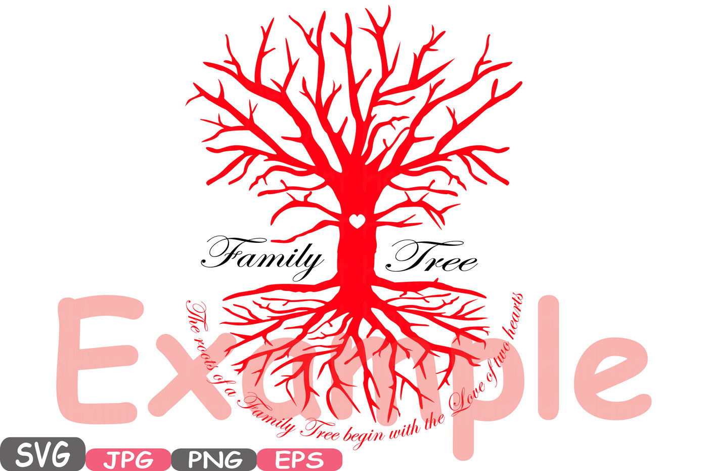 Family Tree Svg Word Art Family Quote Clip Art Silhouette The
