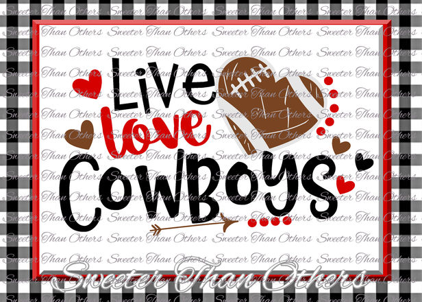 Download Football SVG Live Love Cowboys Football Svg Distressed ...