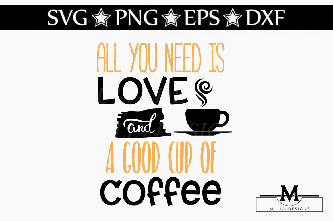 Love And Coffee Svg By Mulia Designs Thehungryjpeg Com
