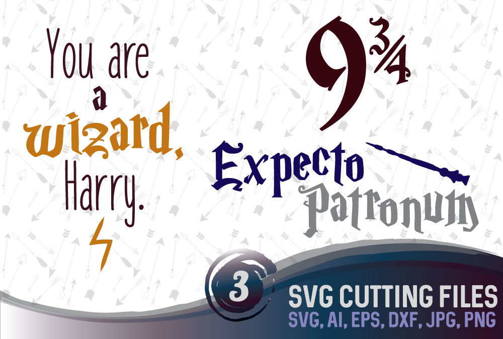 Harry Potter Bundle 3 Magical Designs Suitable For Cutting Svg