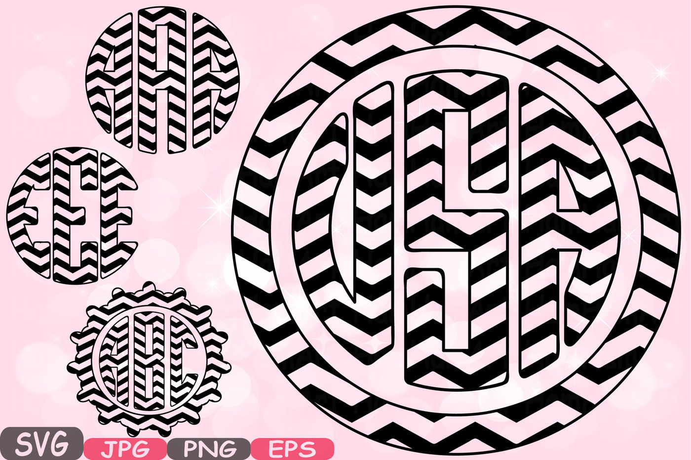 Stripes Circle Alphabet Svg Silhouette Letters Abc Cutting Files