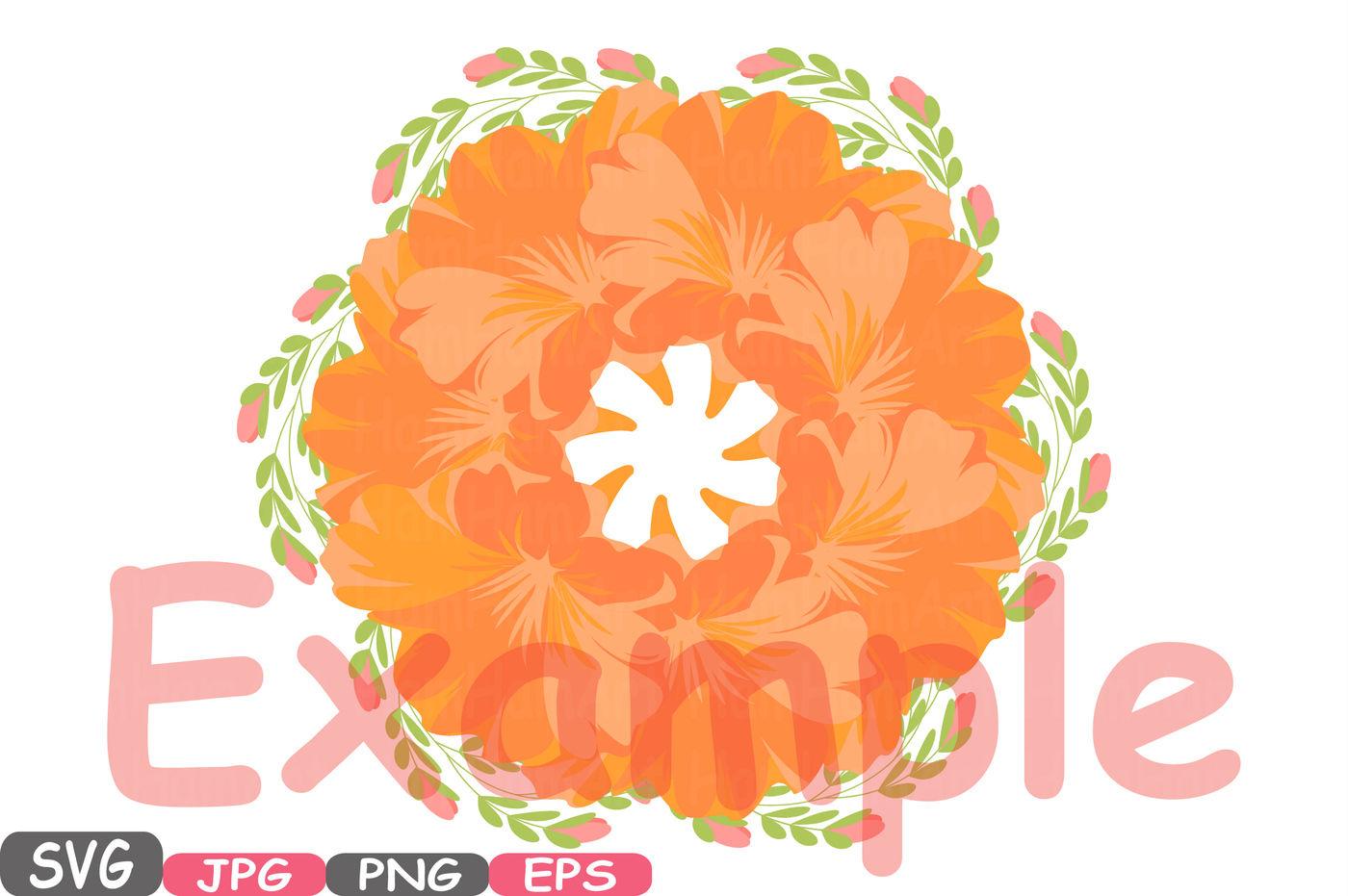 Wedding Flowers Vintage Floral Invitation Cutting Files Svg Eps