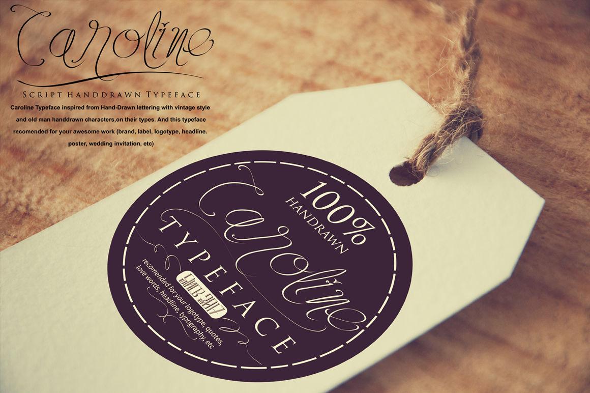 Caroline Typeface By Wasana Creative Thehungryjpeg Com