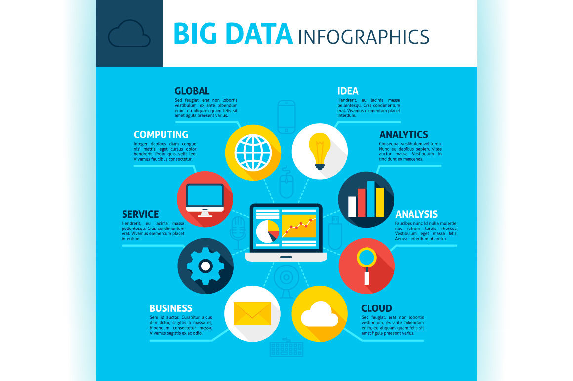 Big Data Infographics By Anna_leni | TheHungryJPEG com