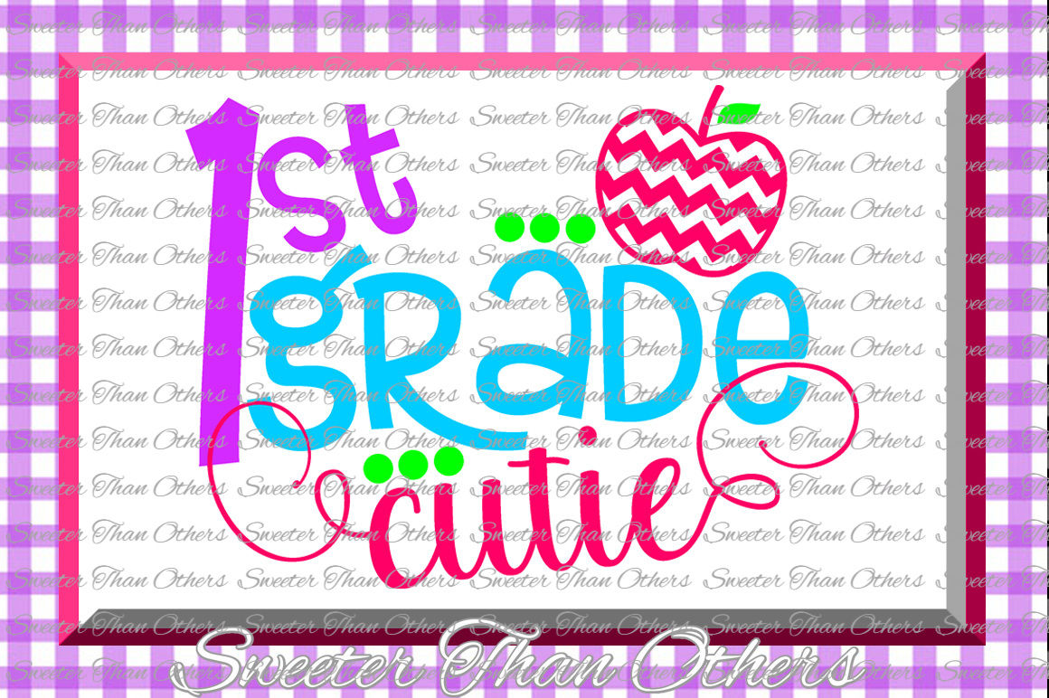 Download First Grade cutie SVG 1st Grade cut file Last Day of ...