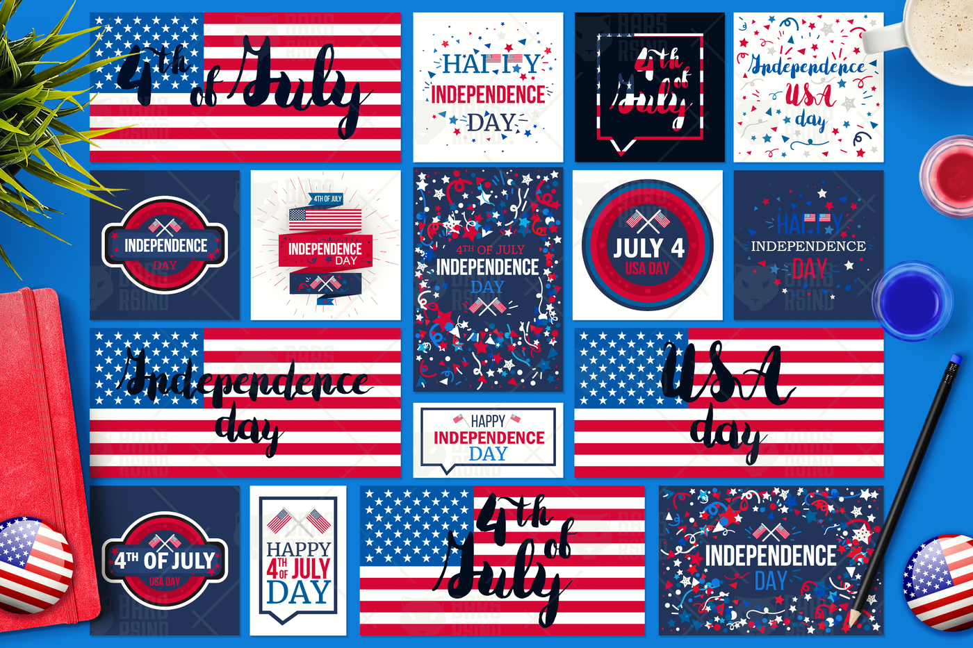 4th Of July Banners By Barsrsind Shop Thehungryjpeg Com