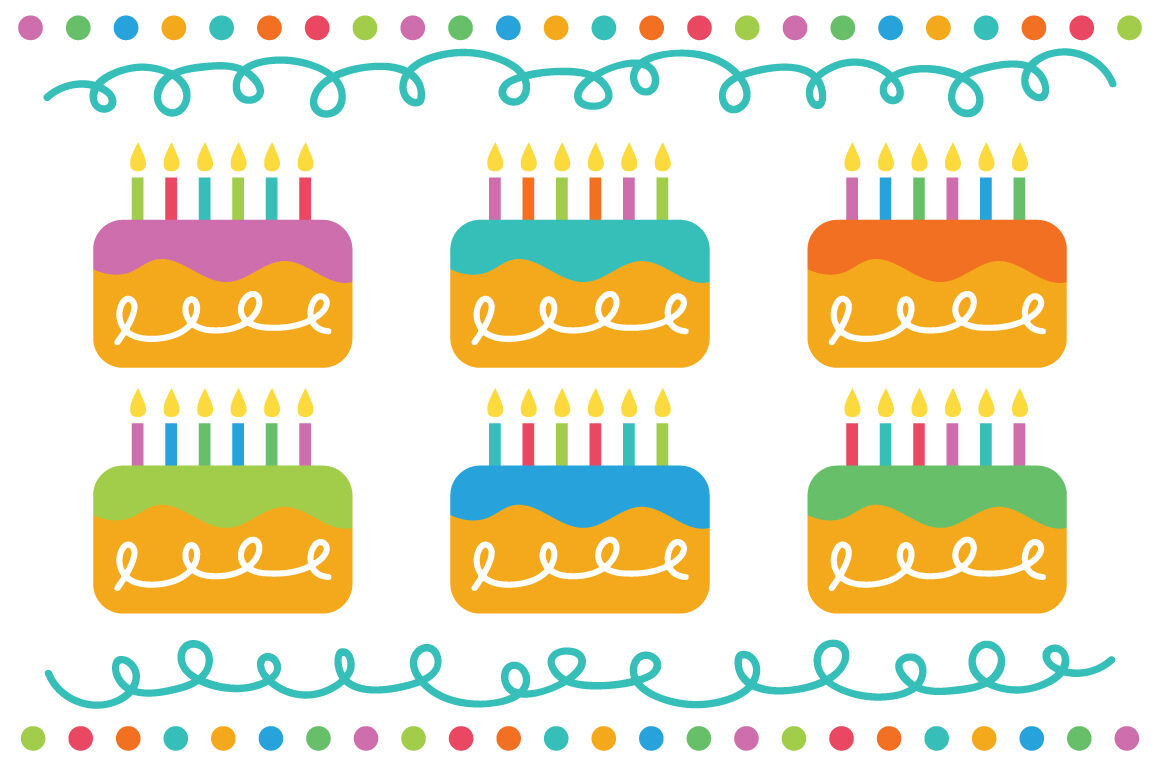 Happy Birthday Party Clip Art Set By Running With Foxes