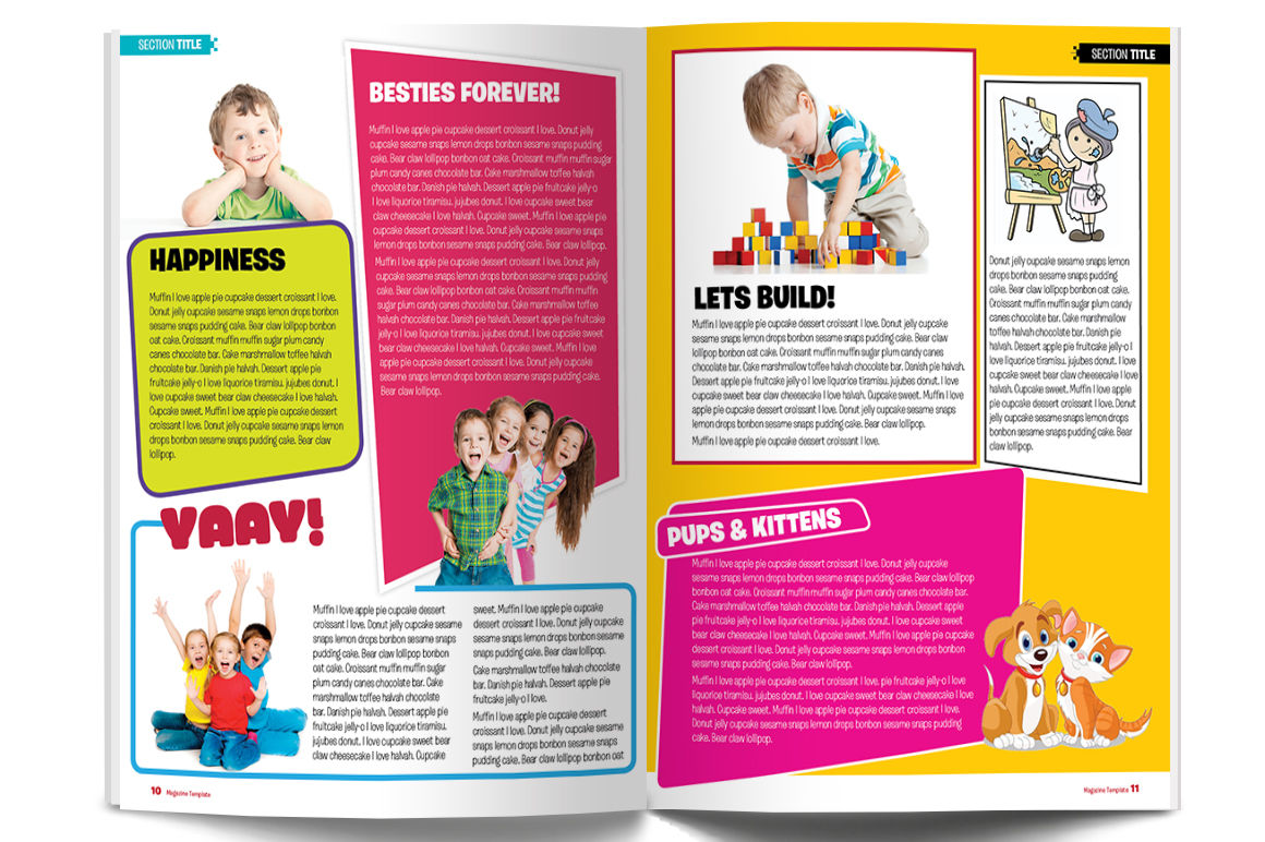 Magazine Template By Red Cactus Creative Thehungryjpeg Com