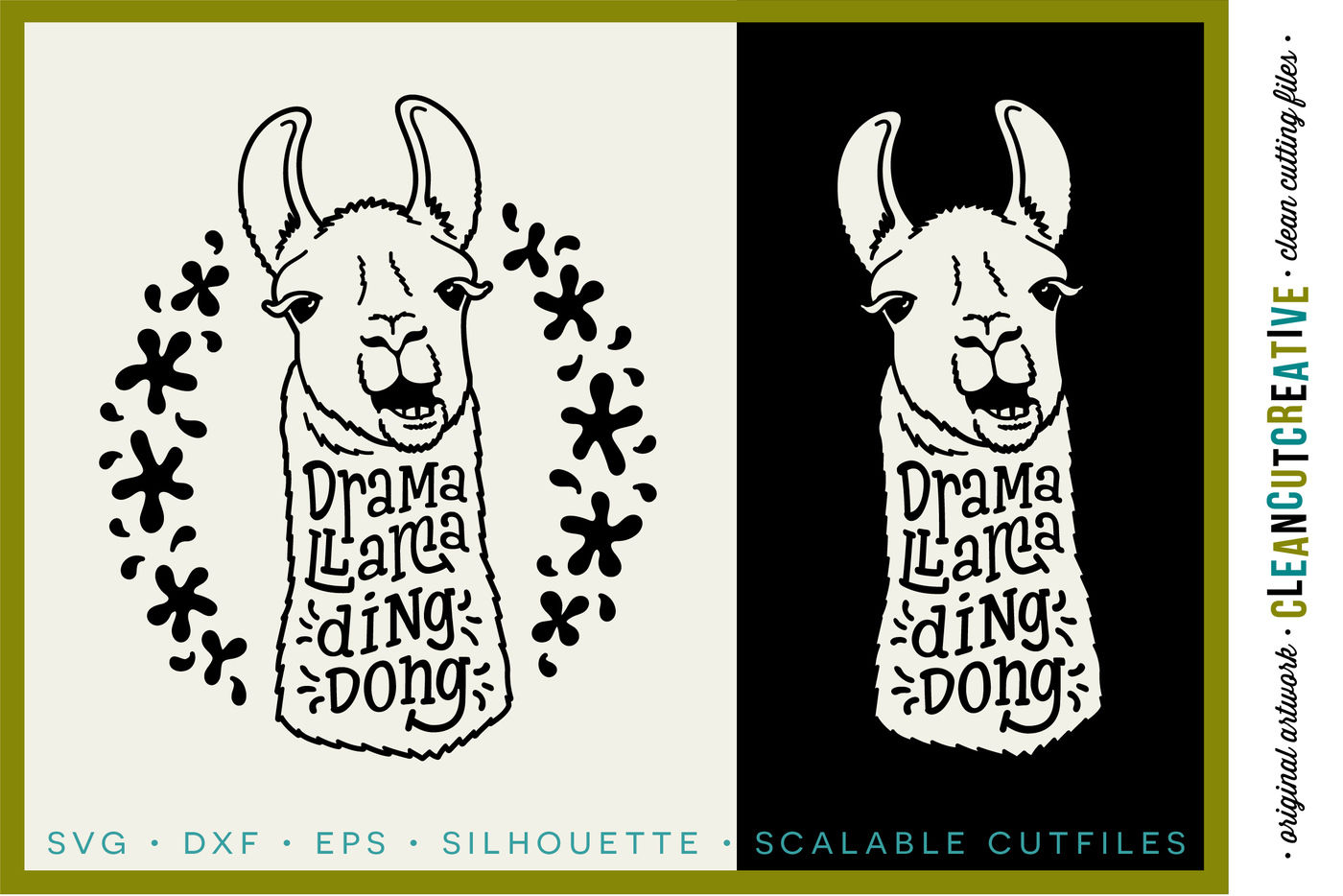 Drama Llama Ding Dong Svg Dxf Eps Png Cricut Silhouette