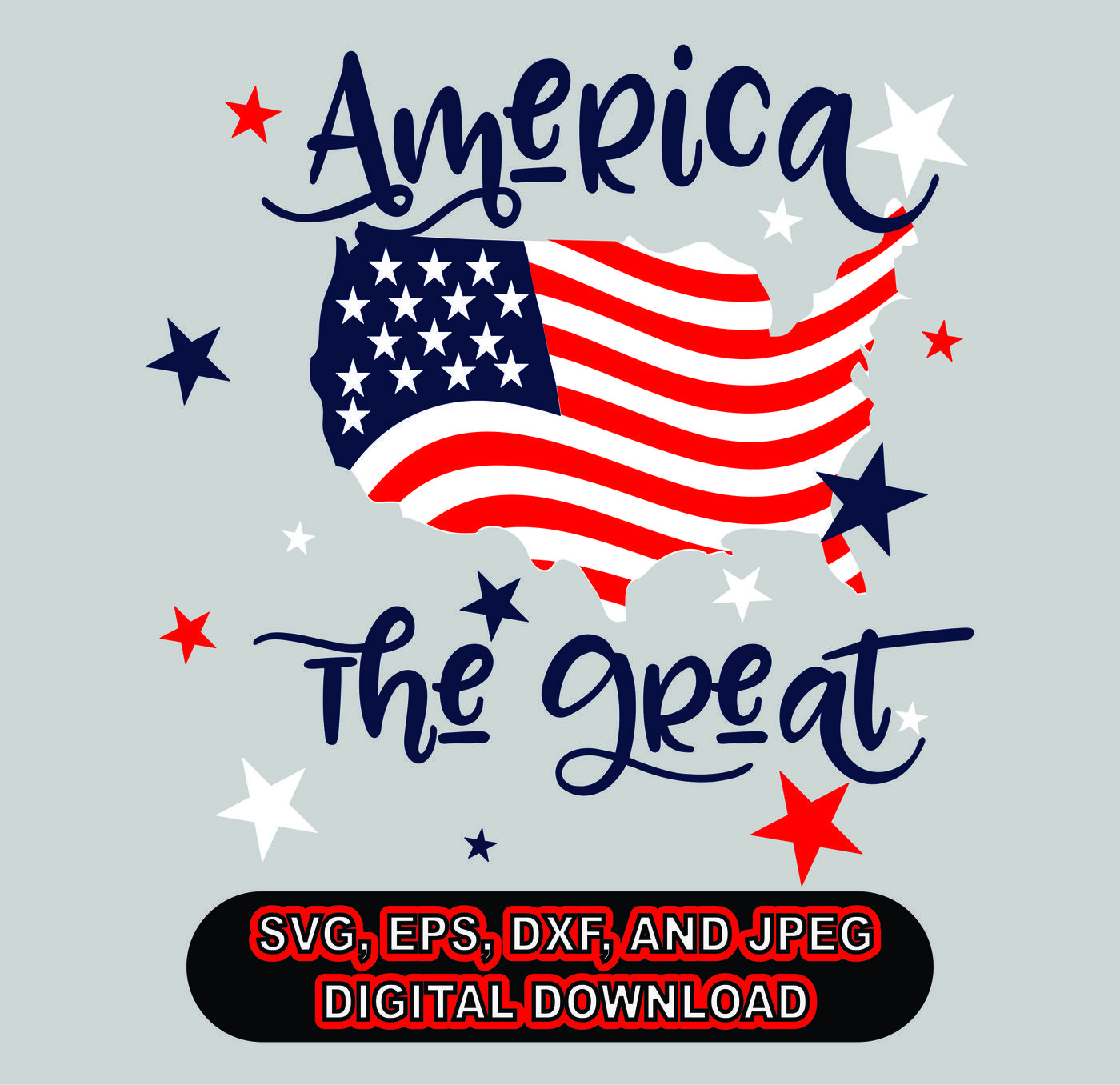 4th Of July Svg Dxf Eps And Jpg Files For Cutting Machines