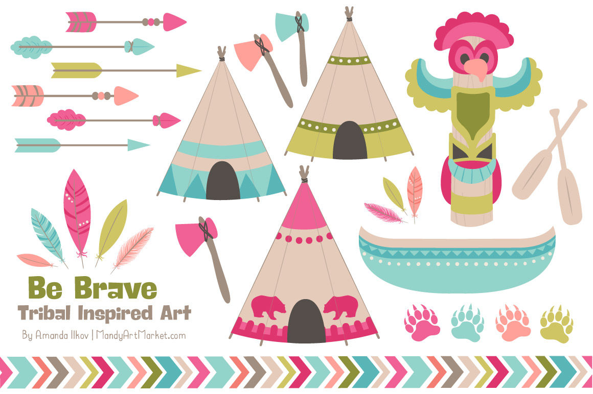 Tribal Clipart Collection In Bohemian By Amanda Ilkov