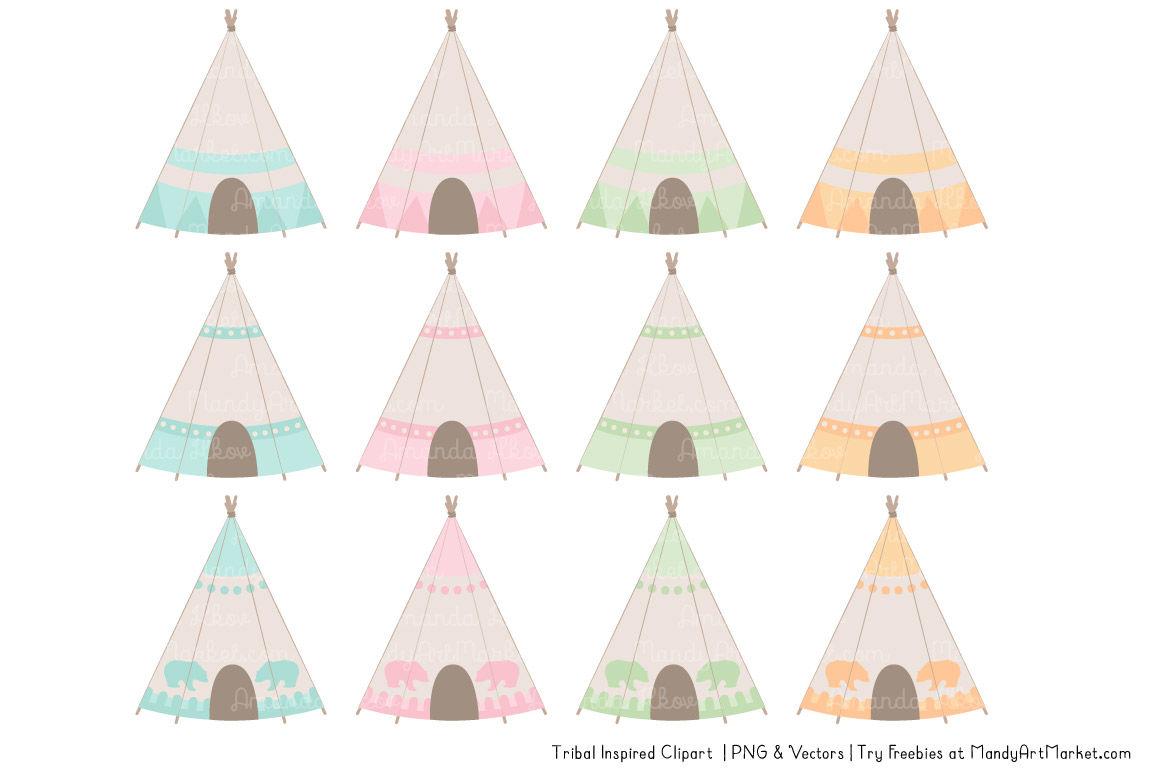 Pastel Tribal Vectors By Amanda Ilkov Thehungryjpeg Com