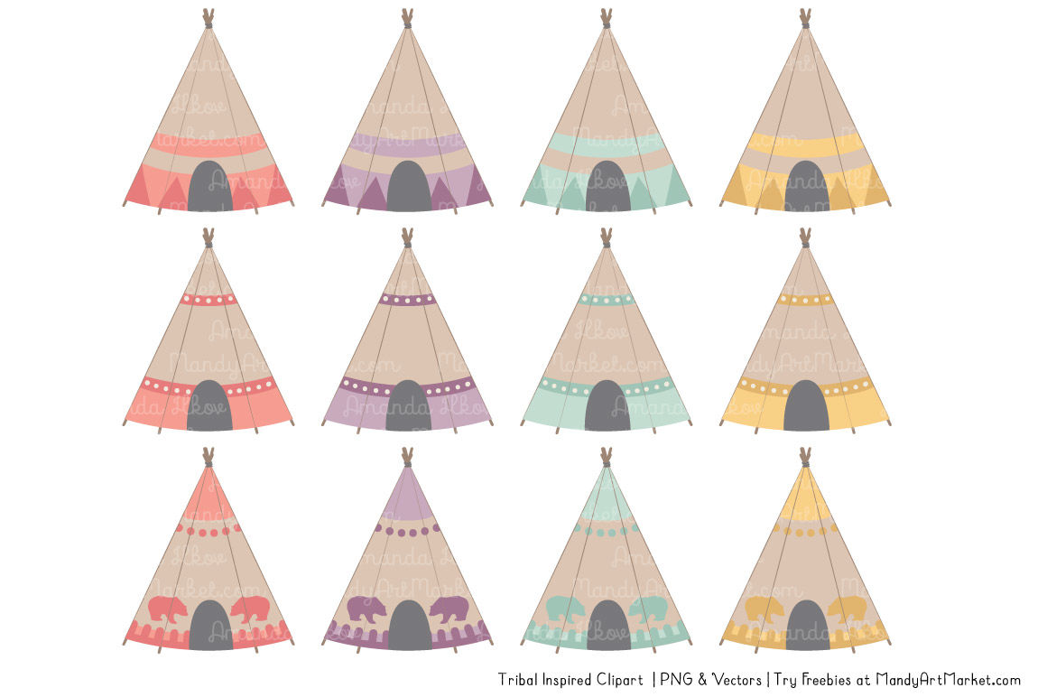 Tribal Clipart Collection In Vintage Girl By Amanda Ilkov