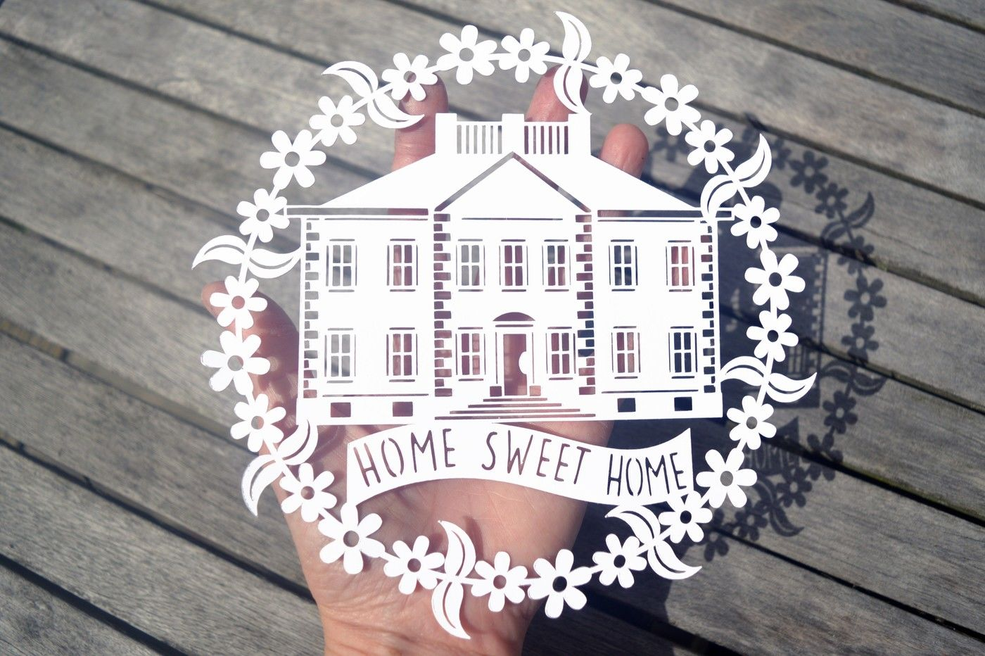 Home Sweet Home Paper Cut Svg Dxf Eps Files By Digital Gems
