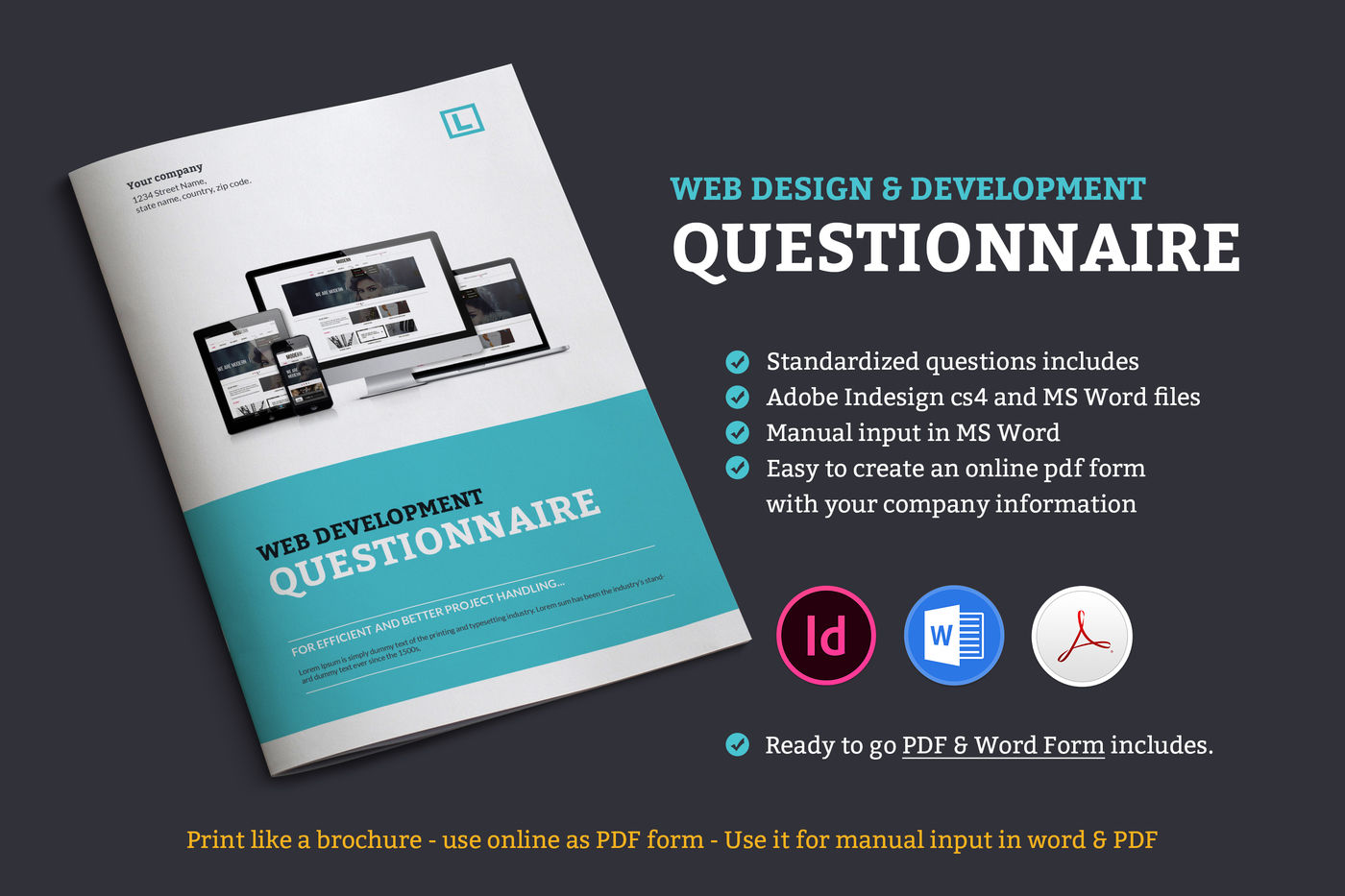 Web Design Questionnaire By Graphicsegg Thehungryjpeg Com