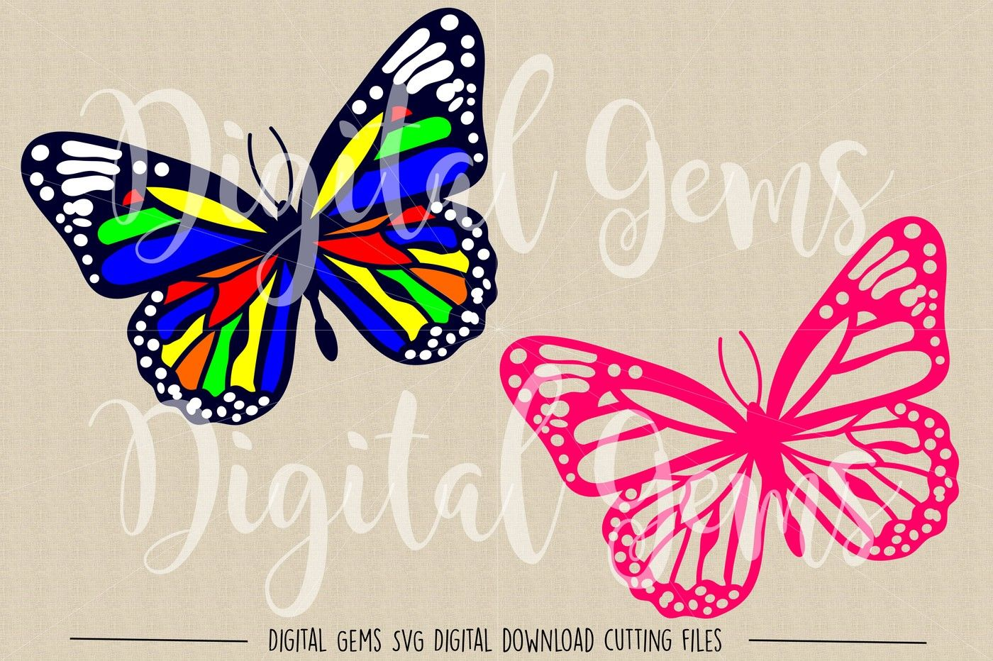 Butterfly Svg Dxf Eps Png Files By Digital Gems