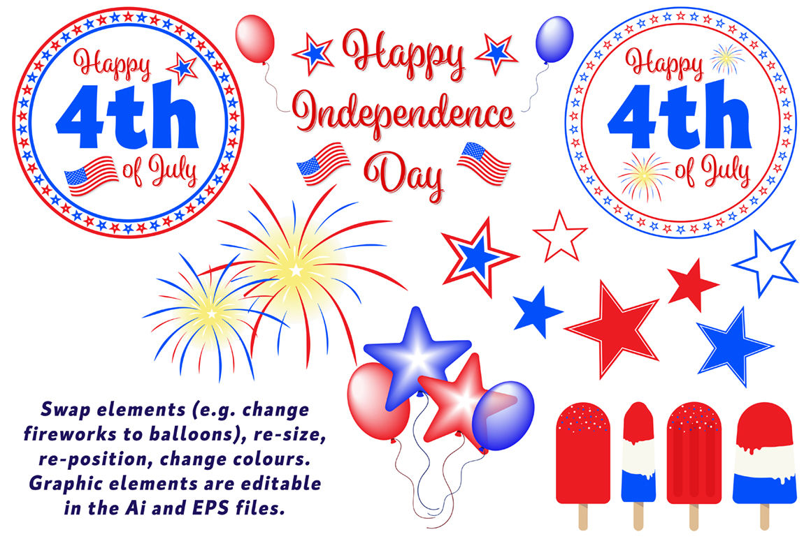 Usa 4th July Independence Day Clipart By Dc Design Photography