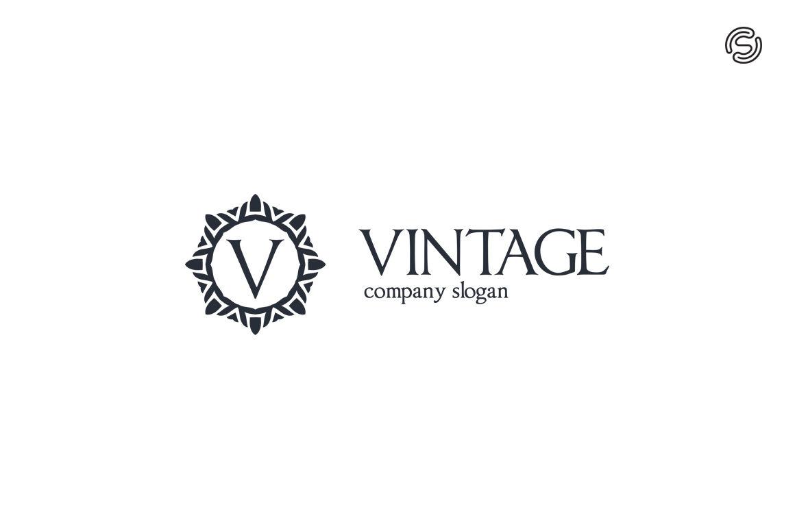 Vintage - Letter V Logo Template By sarten | TheHungryJPEG com