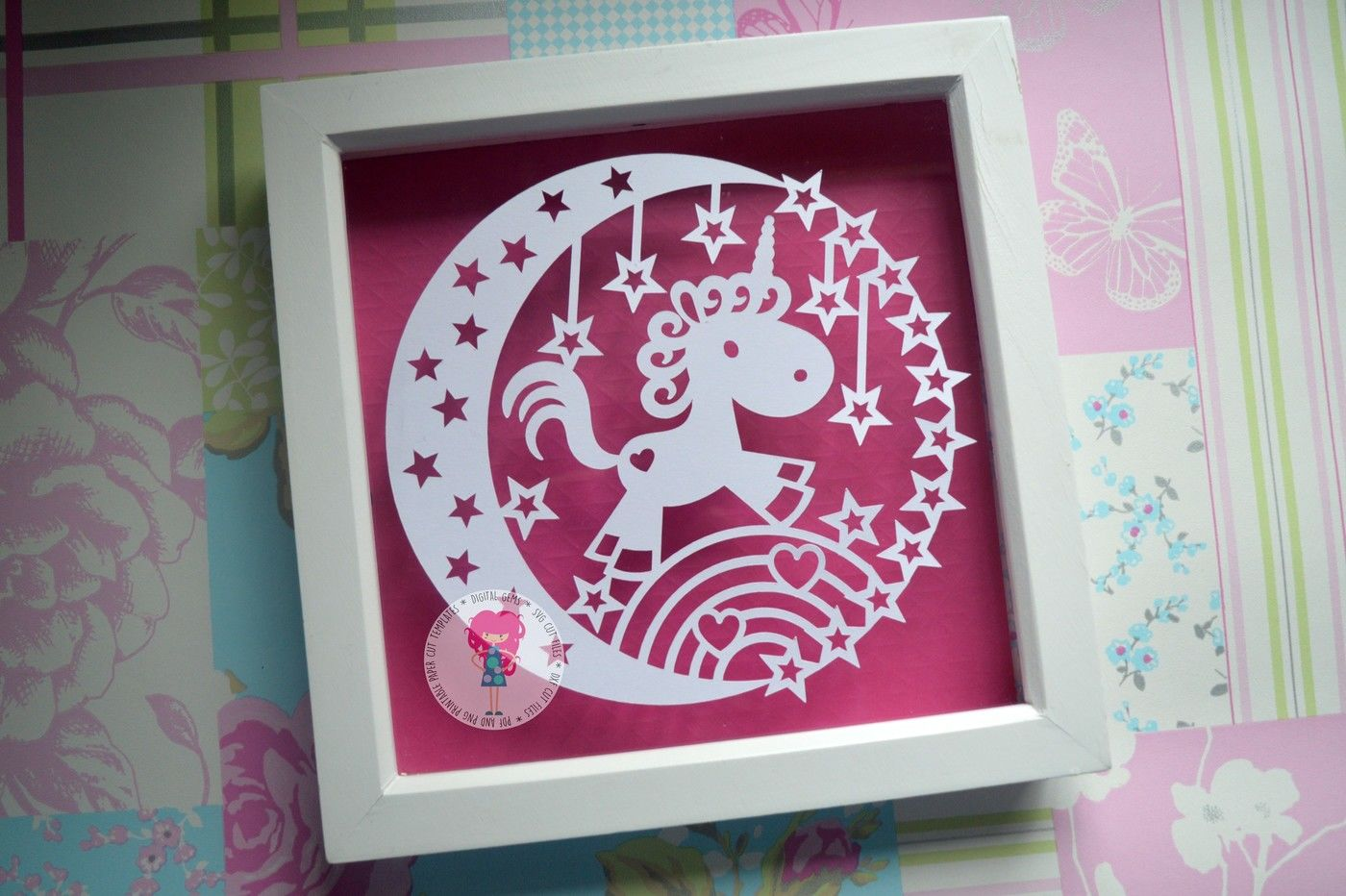 Unicorn Paper Cut Svg File By Digital Gems Thehungryjpeg Com