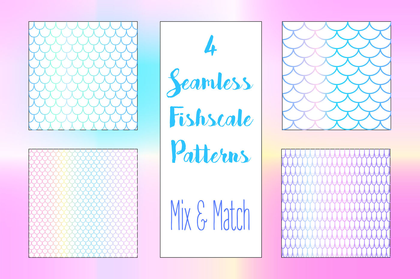 Mermaid Seamless Pattern Background By Rabbit And Pencil