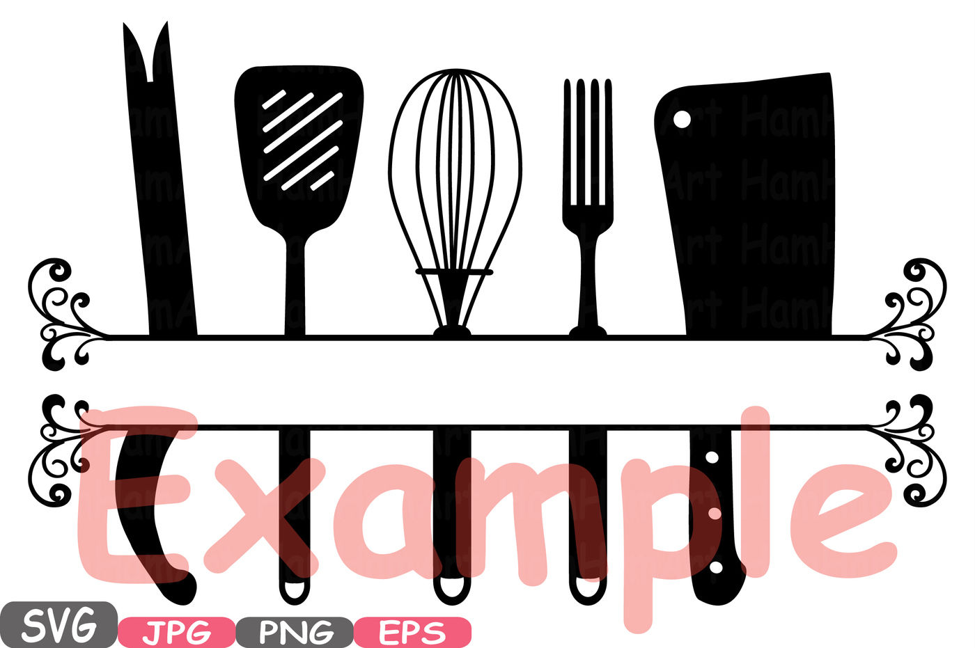 Split Kitchen Svg File Cutting Files Cricut Cameo Kitchen