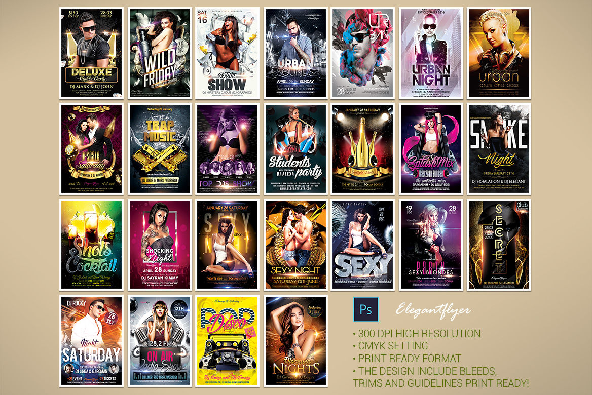 100 Proffesional Flyer Templates For Photoshop Party
